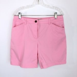 Talbots Pink  Flat Front Chinos Size 8